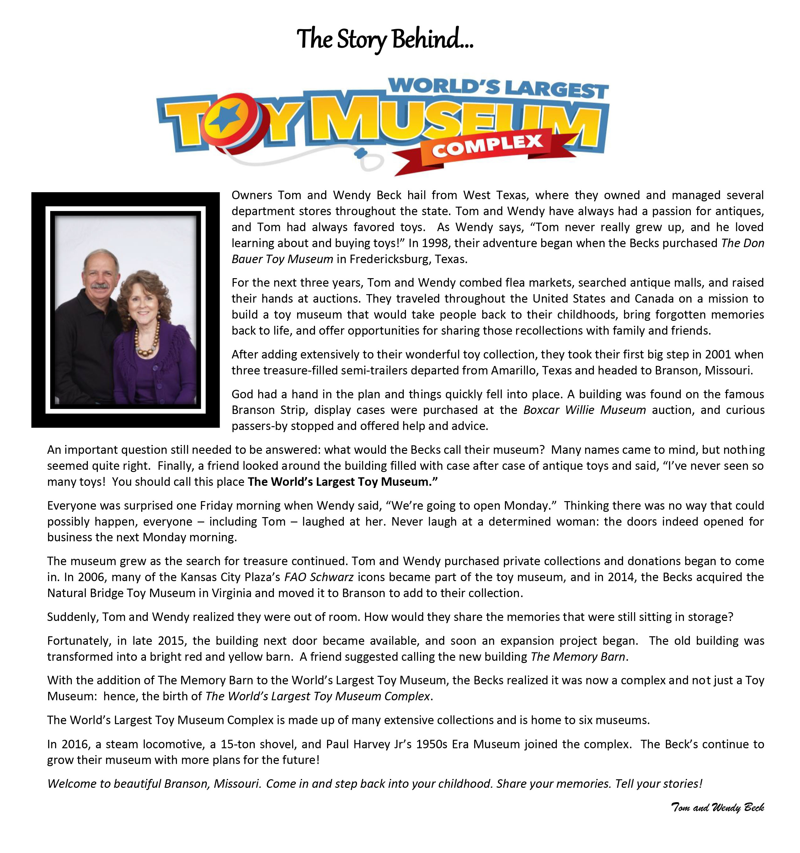 About Us  Worlds Largest Toy Museum - How many museums in us